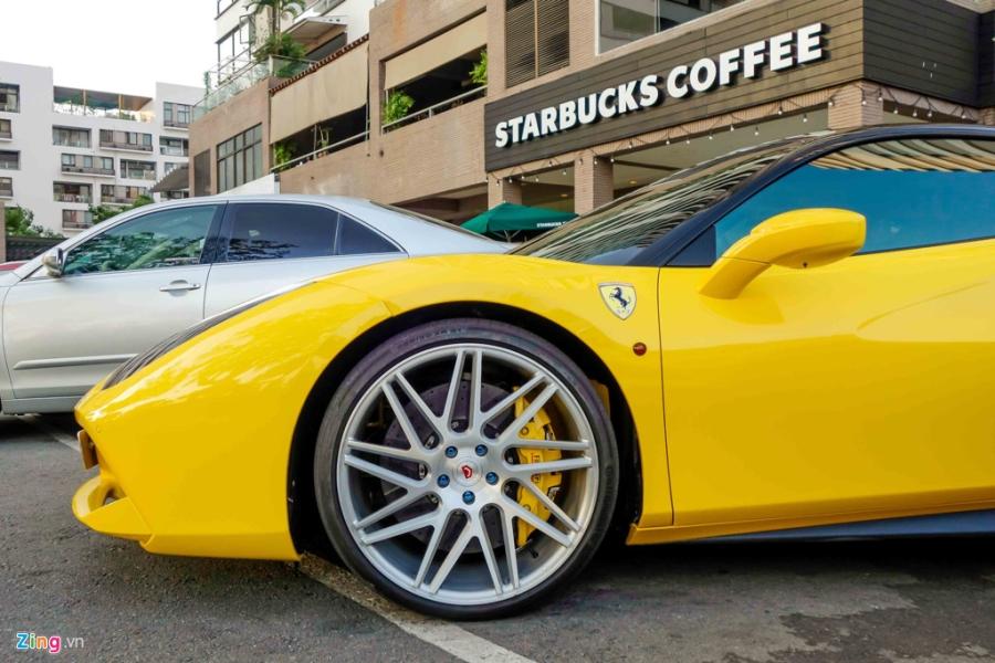 Sieu xe Ferrari 488 GTB mau vang ve tay Cuong Do La hinh anh 5