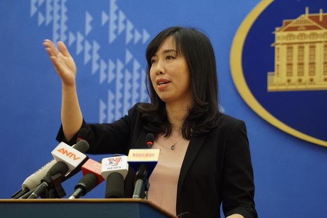 Người phát ngôn Bộ Ngoại giao Việt Nam Lê Thị Thu Hằng (Ảnh: Hữu Nghị)