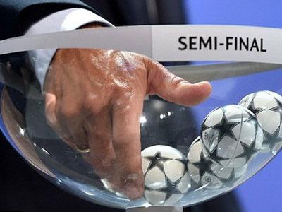 Bốc thăm chia cặp thi đấu vòng bán kết Champions League