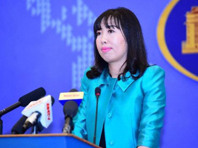 Việt Nam phản ứng việc Trung Quốc tập trận chiếm đảo ở Biển Đông