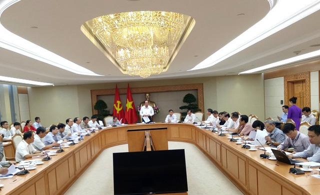 Toàn cảnh phiên làm việc của Tổ công tác của Thủ tướng với các bộ ngành, tập đoàn, tổng công ty về 12 dự án yếu kém ngành công thương (ảnh: BD)