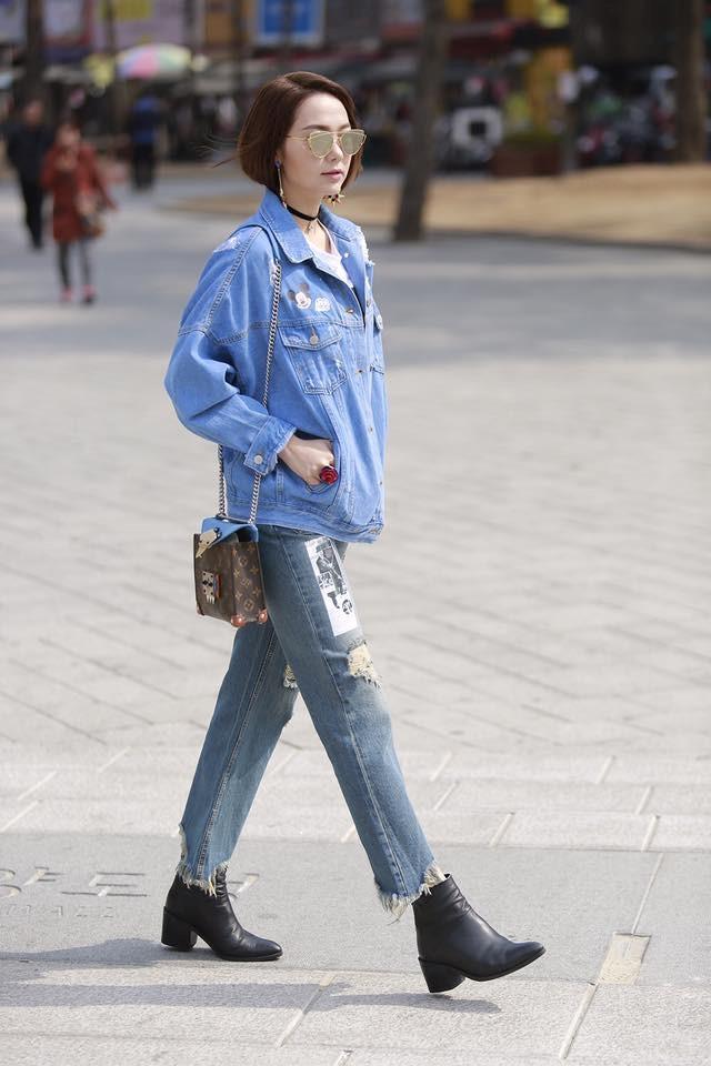 BST jeans rach giup Minh Hang an gian tuoi hinh anh 4