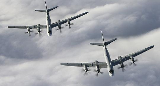 Máy bay ném bom chiến lược tầm xa Tu-95MS của quân đội Nga. Ảnh: SPUTNIK