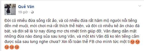 """que van dang dan """"da xeo"""" gay soc sau khi ly qui khanh benh ho ngoc ha - 1"""