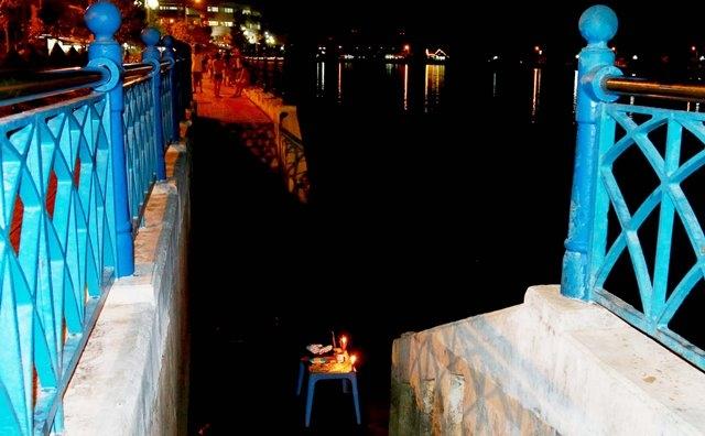 Địa điểm người đàn ông bơi sang sông rồi mất tích