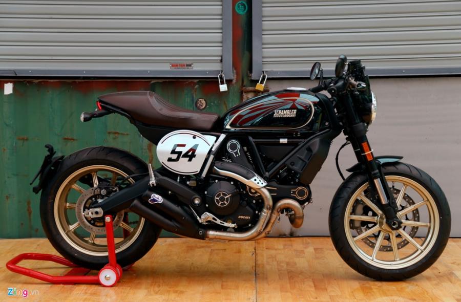 Chi tiet Ducati Scrambler Cafe Racer dau tien Viet Nam hinh anh 2