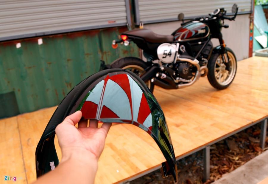 Chi tiet Ducati Scrambler Cafe Racer dau tien Viet Nam hinh anh 8