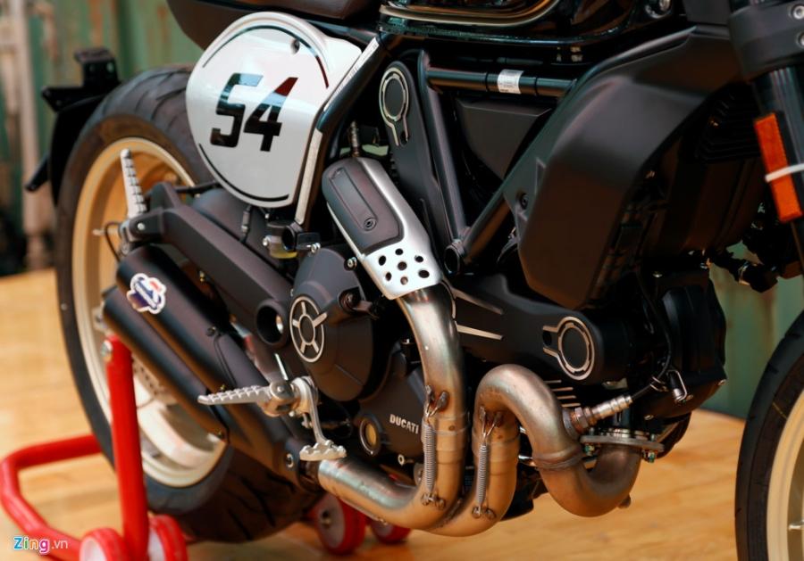 Chi tiet Ducati Scrambler Cafe Racer dau tien Viet Nam hinh anh 13