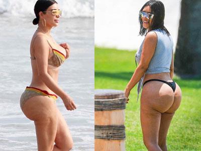 Kim Kardashian lộ