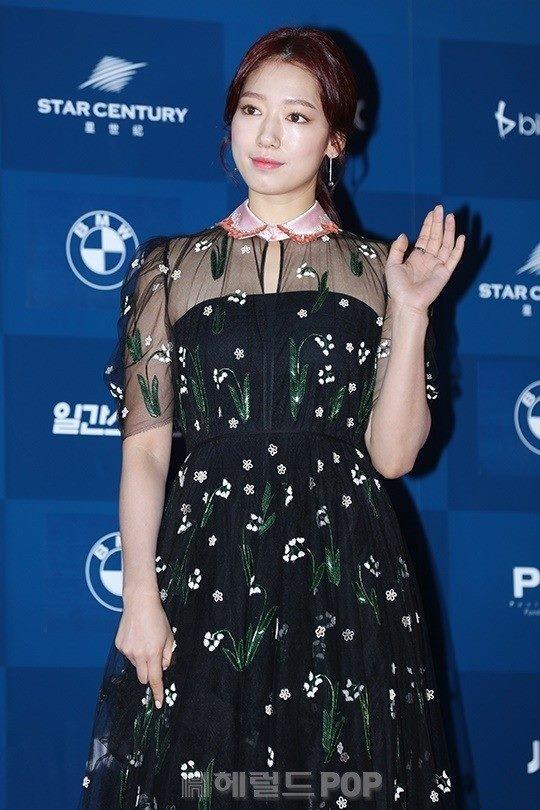 Park Shin Hye béo lên trông thấy khi xuất hiện cùng dàn sao Hàn trên thảm đỏ Baeksang 2017 - Ảnh 2.