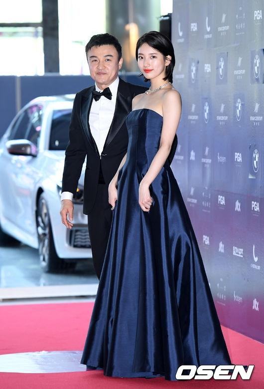 Park Shin Hye béo lên trông thấy khi xuất hiện cùng dàn sao Hàn trên thảm đỏ Baeksang 2017 - Ảnh 5.