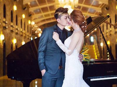 Ca sĩ chuyển giới Lâm Khánh Chi hôn chồng điển trai trong ảnh cưới