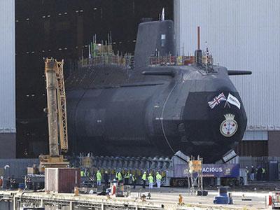 Anh hạ thủy tàu ngầm hạt nhân mới