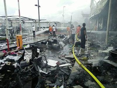 Nổ lớn ở trung tâm thương mại, 40 người bị thương