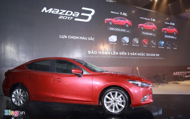 Mazda 3 2017 ra mat o Viet Nam, tang 30 trieu so voi ban cu hinh anh 1