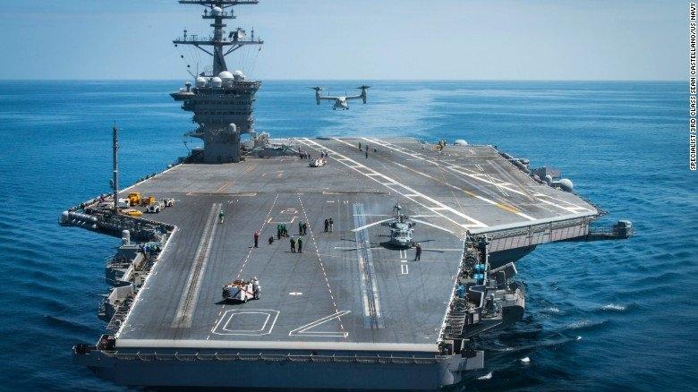 USS Carl Vinson, USS Ronald Reagan, tàu sân bay, hạt nhân, căn cứ hải quân