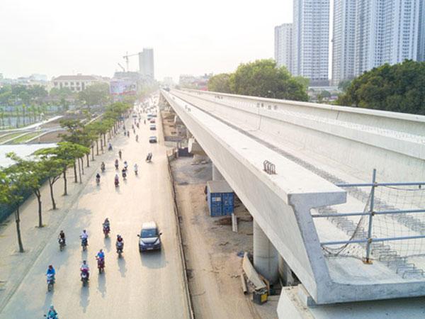 Hình ảnh mới nhất về tuyến metro Nhổn - ga Hà Nội