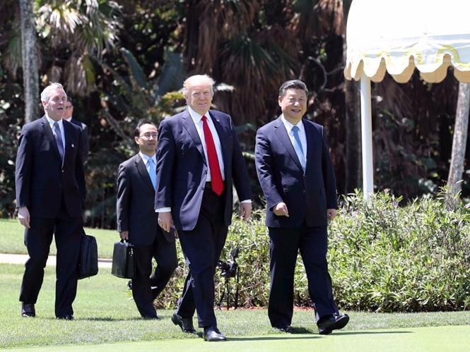 Tổng thống Donald Trump tiếp Chủ tịch Tập Cận Bình tại Mar-a-Lago  /// AFP