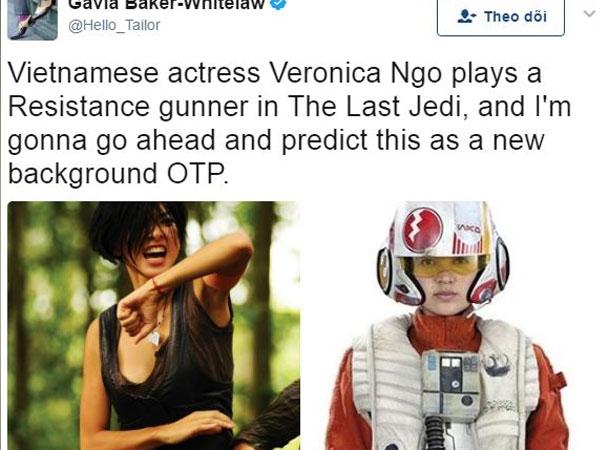 """Hé lộ vai diễn của Ngô Thanh Vân trong bom tấn """"Star Wars: The Last Jedi"""""""