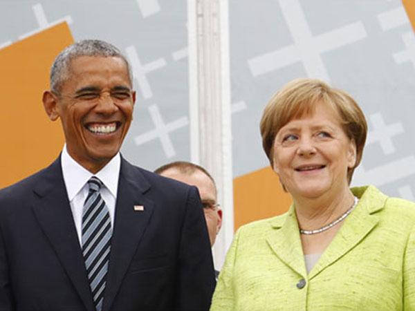 Một ngày gặp cả ông Trump và Obama của Thủ tướng Đức Merkel