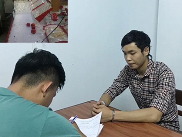 Tờ hóa đơn rút tiền tố hung thủ cướp tiệm vàng ở Đà Nẵng