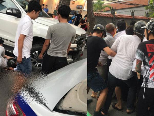 Hà Nội: Mất lái ôtô bán tải đâm liên hoàn trên phố Bà Triệu