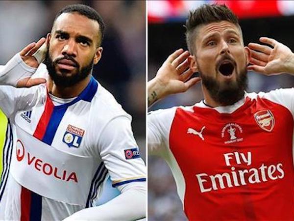 Lyon xác nhận đàm phán với Giroud, báo giá Lacazette cho Arsenal