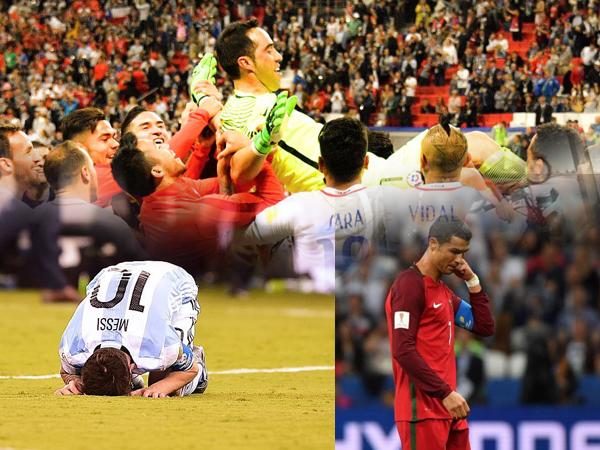 Chỉ sau 3 năm, Chile hủy hoại giấc mơ của cả Messi và Ronaldo