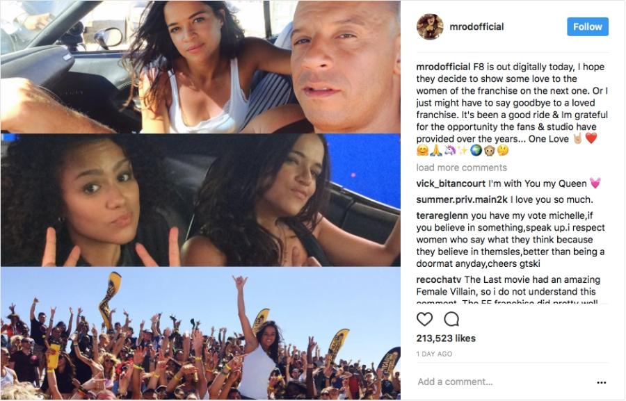 'Người tình màn ảnh' của Vin Diesel dọa bỏ vai trong 'Fast & Furious 9' - ảnh 1