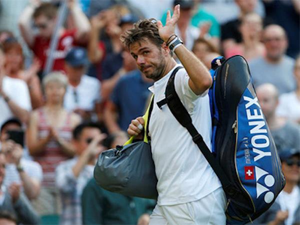 Wawrinka bị loại ngày mở màn Wimbledon