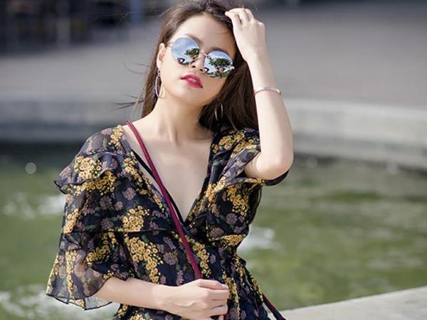 Trang phục ngày hè mát mẻ của Hoàng Thùy Linh