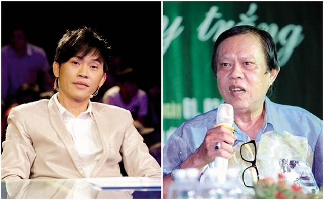 """Nhạc sĩ Vinh Sử (phải) gây tranh cãi khi """"chê"""" Hoài Linh. Ảnh: TL"""