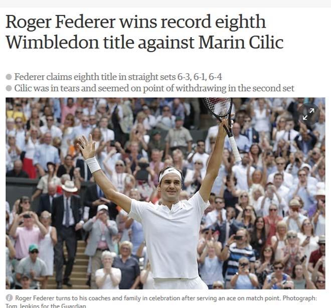 Báo chí thế giới: Cả hành tinh kinh ngạc về Federer - 2