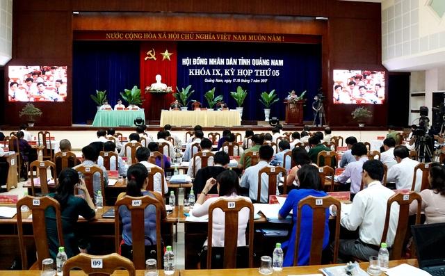 Kỳ họp thứ 5, HĐND tỉnh Quảng Nam khóa IX diễn ra từ ngày 17-19/7