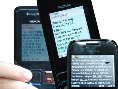 Tin nhắn rác bị siết chặt tại VN