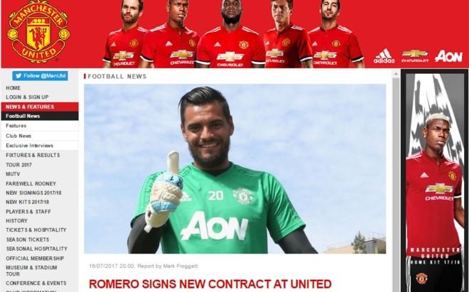Thu thanh Romero nhan thuong lon tu Man Utd hinh anh 1