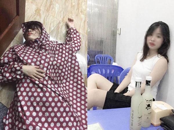 Dân mạng động viên cô gái mặc áo mưa, nằm lăn dưới đất vì thất tình