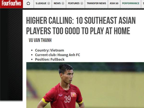 Báo Anh chỉ ra cầu thủ HAGL phí phạm tài năng ở ĐNÁ
