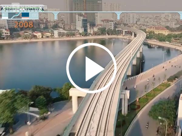 Video Dự án đường sắt Cát Linh - Hà Đông chậm tiến độ 10 năm