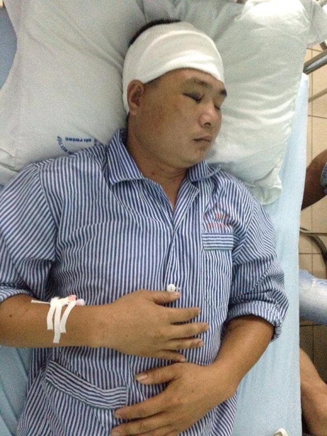 Anh Trung đang điều trị tại bệnh viện Việt Tiệp. Ảnh: Khánh Hòa