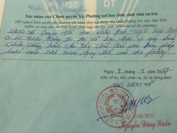 Ngay giữa Hà Nội, lại thêm vụ lãnh đạo xã phê bình cả nhà khi xác nhận lý lịch nhập học
