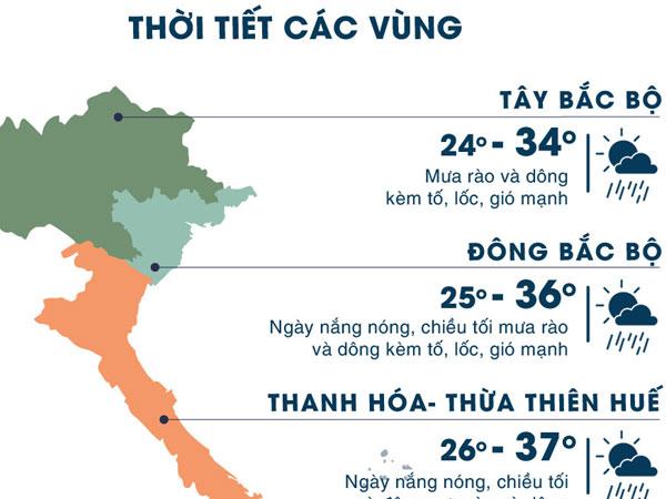 Sài Gòn, Hà Nội cùng mưa dông, có thể ngập giờ tan tầm