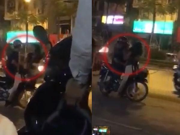 Chồng đánh vợ giữa đường bị nhóm thanh niên dạy cho bài học nhớ đời vì thói vũ phu