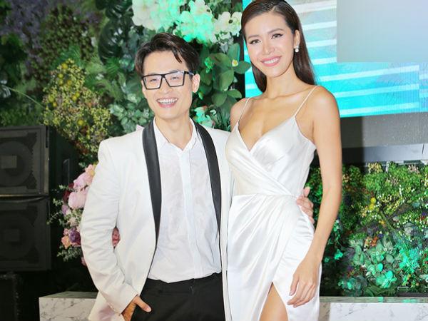 Minh Tú mặc sexy, cao nổi trội khi đứng bên Hà Anh Tuấn