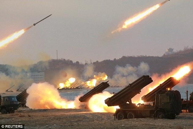 Một cuộc tập trận của Triều Tiên (Ảnh minh họa: Reuters)