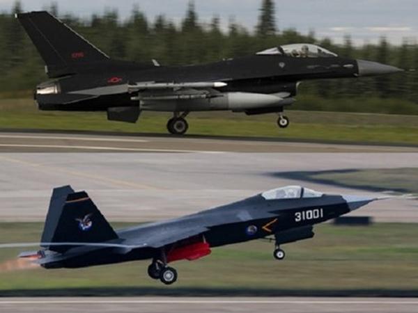 F-16 Mỹ sơn màu giống tiêm kích Trung Quốc để tập trận