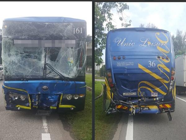 SEA Games 29: Xe buýt chở các tuyển bóng quần gặp tai nạn giao thông
