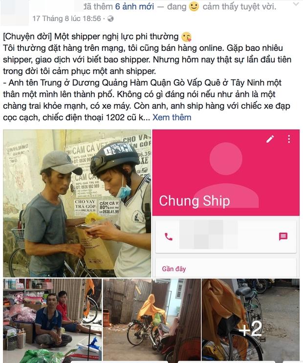 Chuyện cảm động về anh shipper khuyết tật giọng nói, đạp xe hàng chục km mỗi ngày để giao hàng khắp Sài Gòn - Ảnh 1.