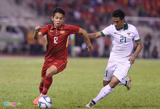 U22 Viet Nam 0-0 U22 Indonesia (H1): Doi thu choi quyet liet hinh anh 2