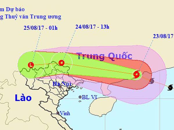 Bão số 6 vào đất liền Trung Quốc, tối nay miền Bắc mưa lớn